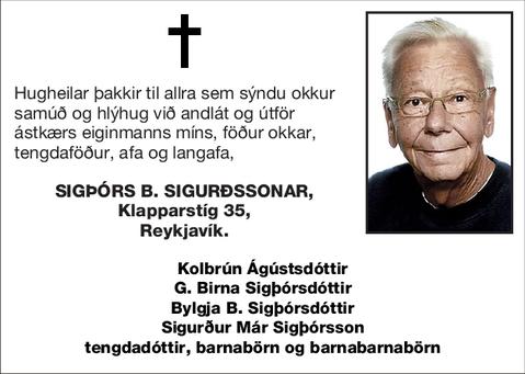 Sigþórs B. Sigurðssonar,