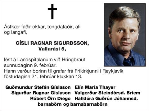 Gísli Ragnar Sigurðsson,