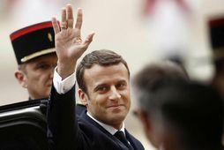 Nýr forseti Frakklands, Emmanuel Macron.