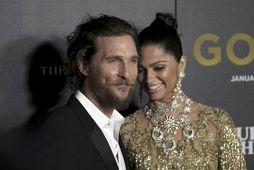 Matthew McConaughey og eiginkona hans, Camila Alves.