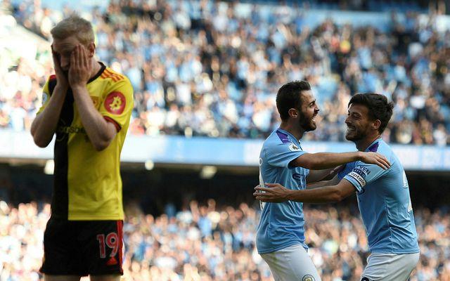Manchester City valtaði yfir Watford.