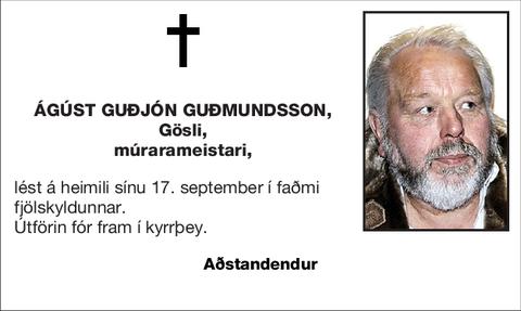 Ágúst Guðjón Guðmundsson,