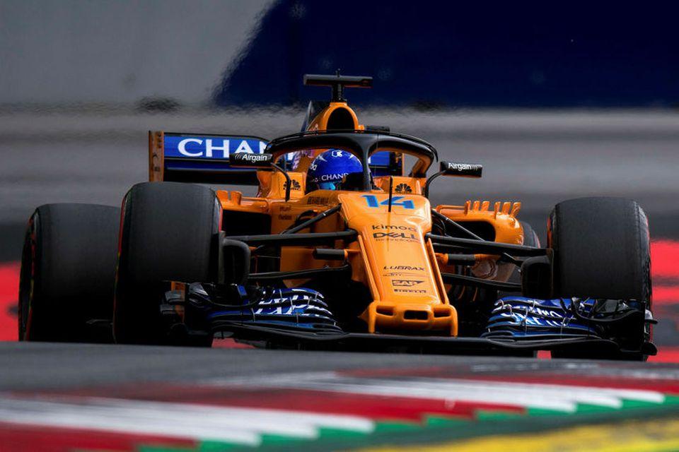 Fernando Alonso var öflugur í Spielberg.