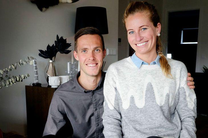 Lára Sif Christiansen og eiginmaður hennar, Leifur Grétarsson.