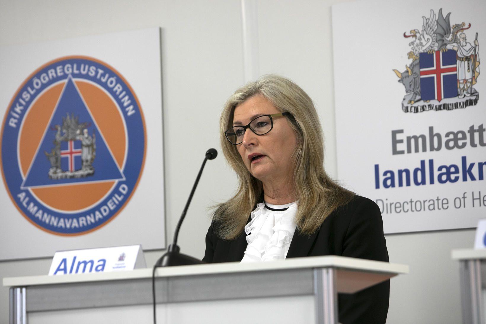 Alma Möller landlæknir.