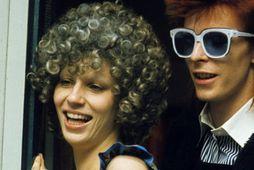 Angie og David Bowie voru gift í 10 ár, en þau skildu árið 1980.