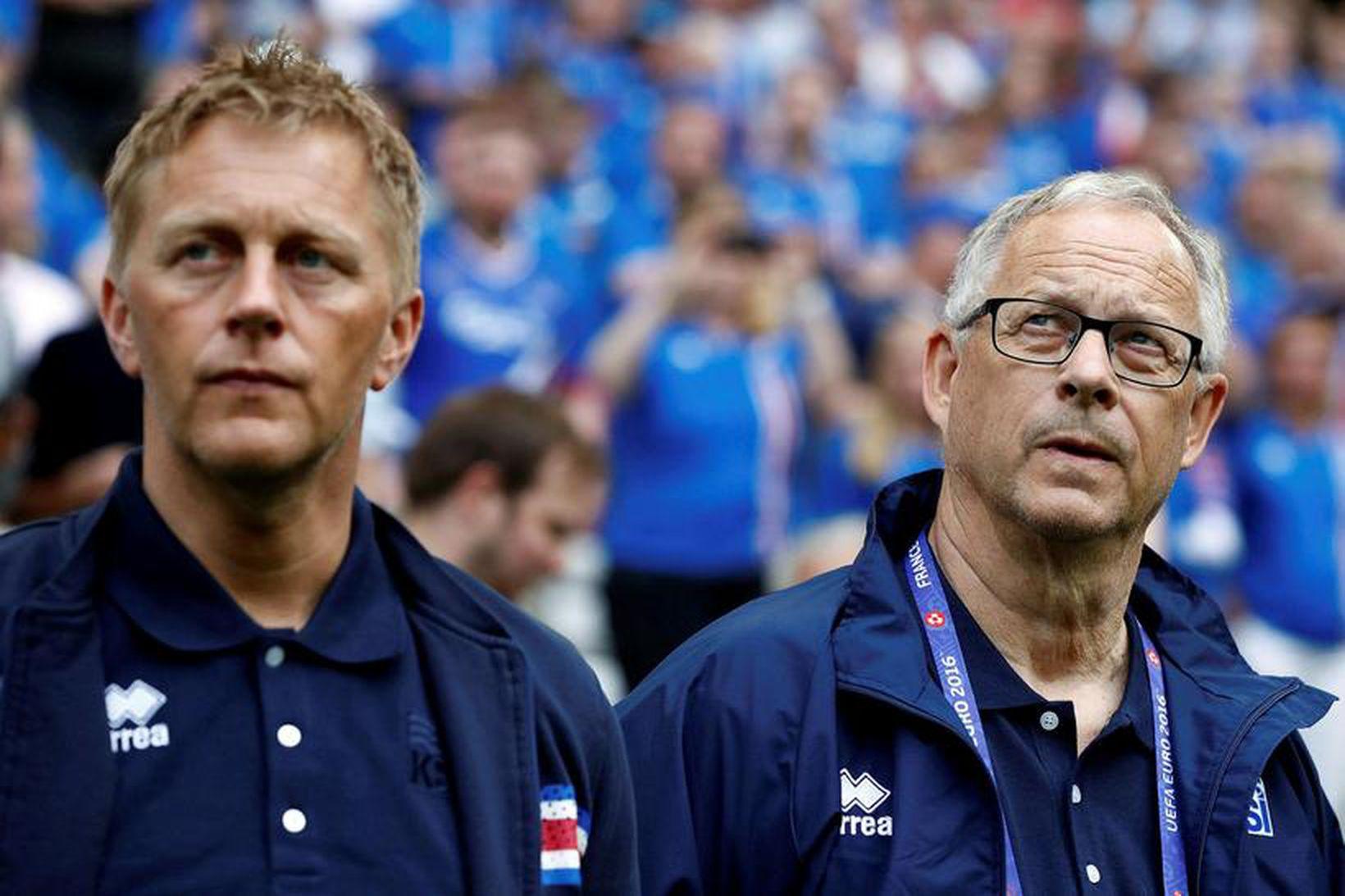 Heimir Hallgrímsson og Lars Lägerback.