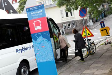 A certified coach stop at Hverfisgata. A new committee has called for many more such ...