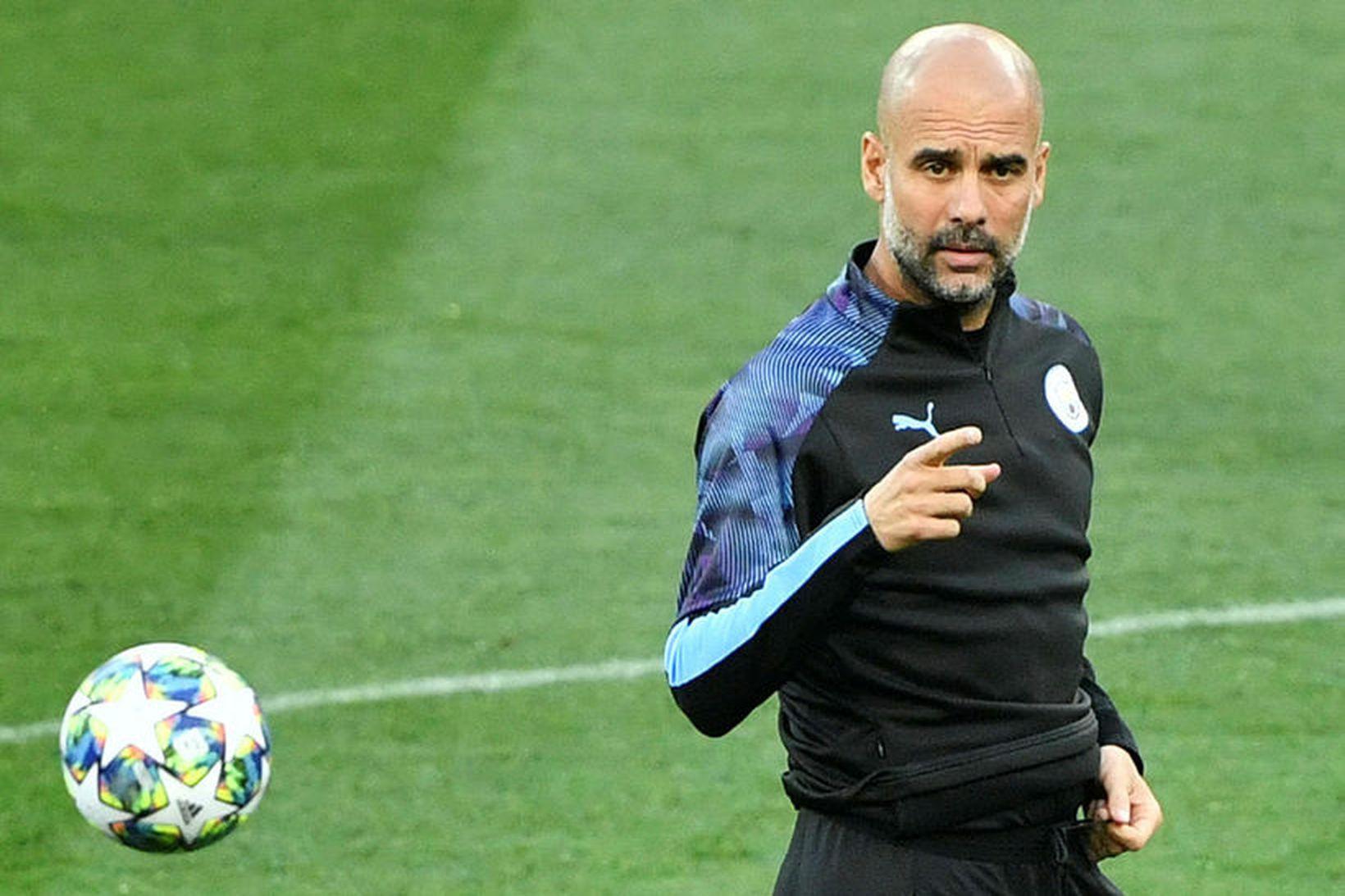 Pep Guardiola og lærisveinar hans í Manchester City mæta Shakhtar …