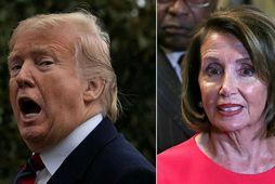 Donald Trump Bandaríkjaforseti segir Nancy Pelosi, forseta fulltrúardeildar Bandaríkjaþings, hafa hagað sér óskynsamlega en hún …