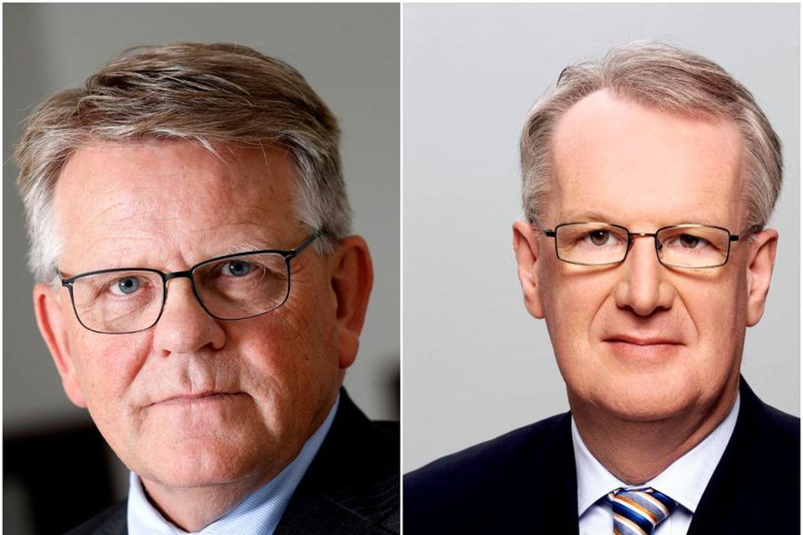 Björgólfur Jóhannsson, nýr stjórnarformaður Íslandsstofu og Jón Ásbergsson, fráfarandi framkvæmdastjóri …