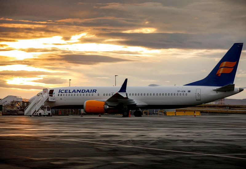 One of Icelandair's Boeing 737 MAX aircraft.