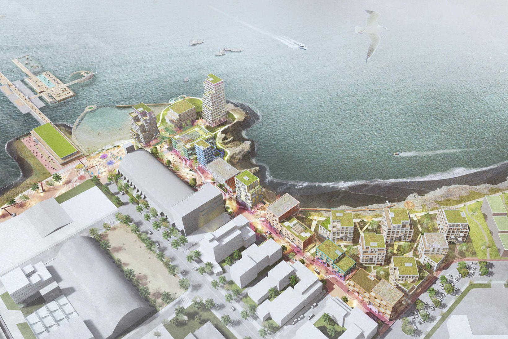 Vinningstillaga Jvantspijker & partners, Andersen & Sigurdsson og Felixx Landscape …
