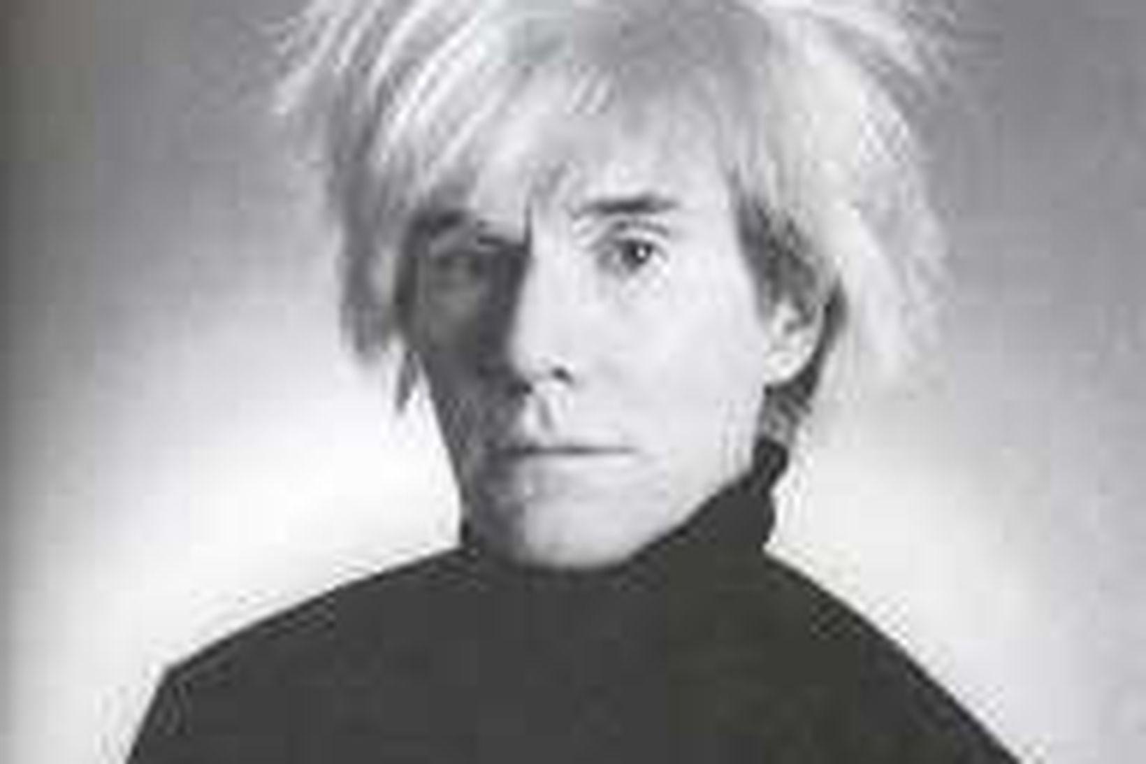 Mynd af Andy Warhol frá árinu 1986