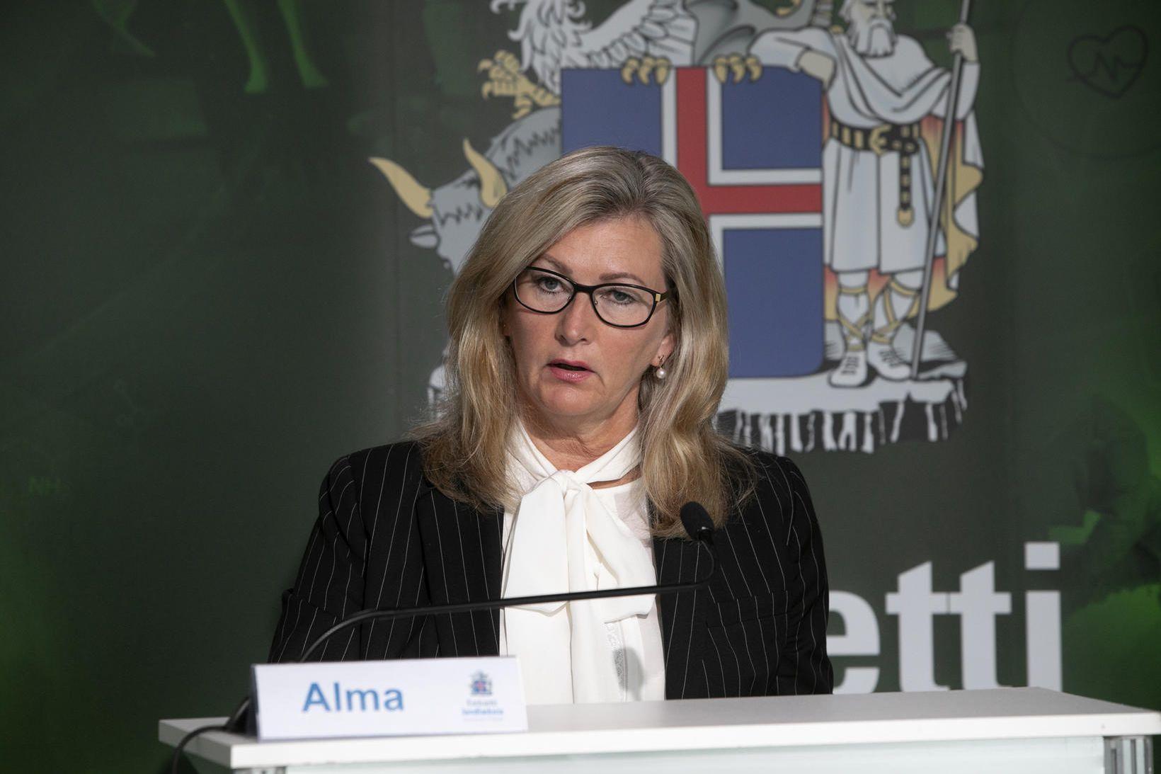 Alma Möller landlæknir verður á báðum fundunum.