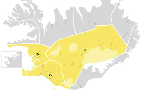 Yellow alerts today.