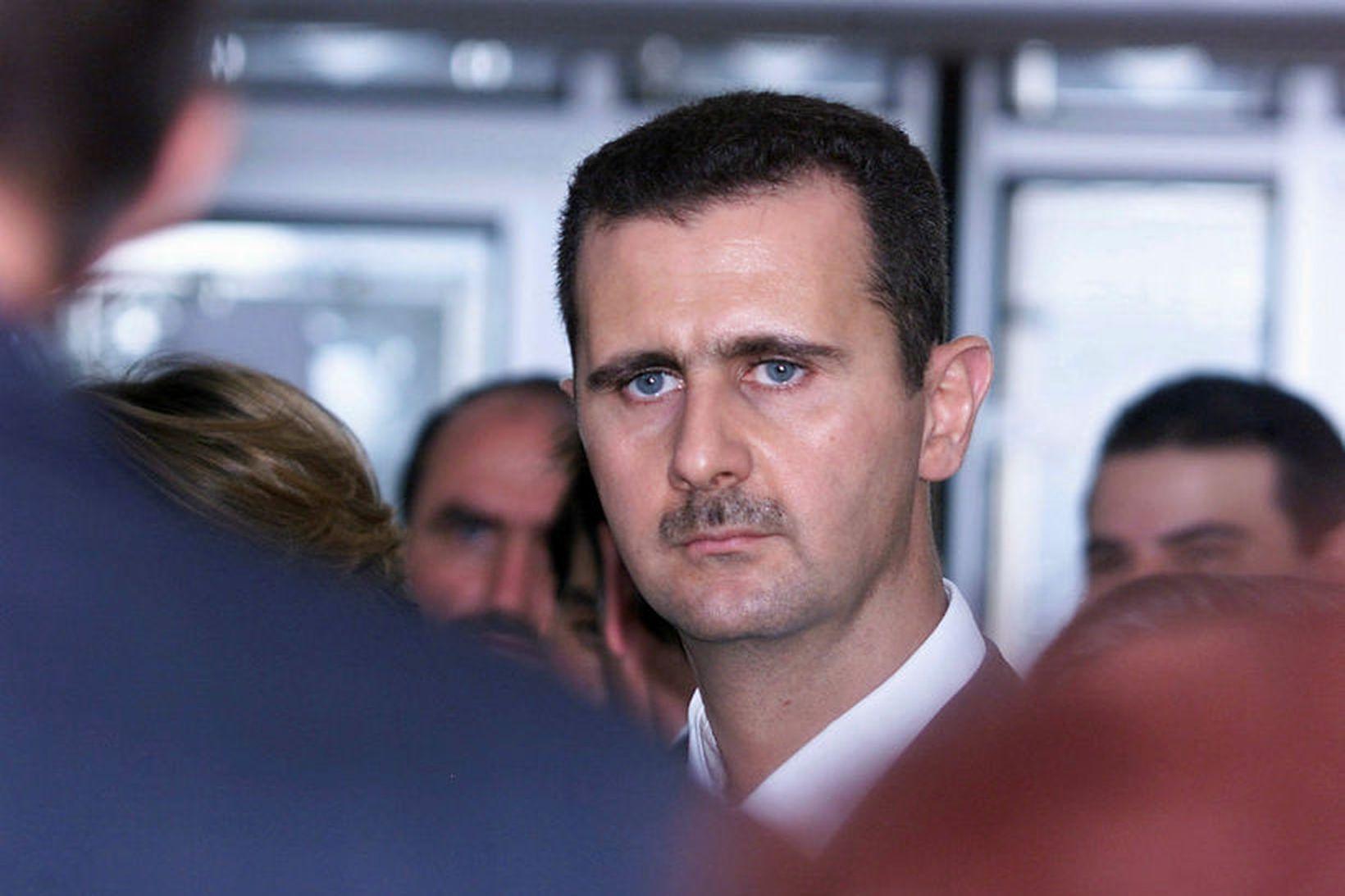 Bashar al-Assad forseti Sýrlands. Mynd úr safni.