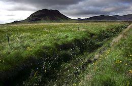 Fjallið Arnarfell í Krýsuvík