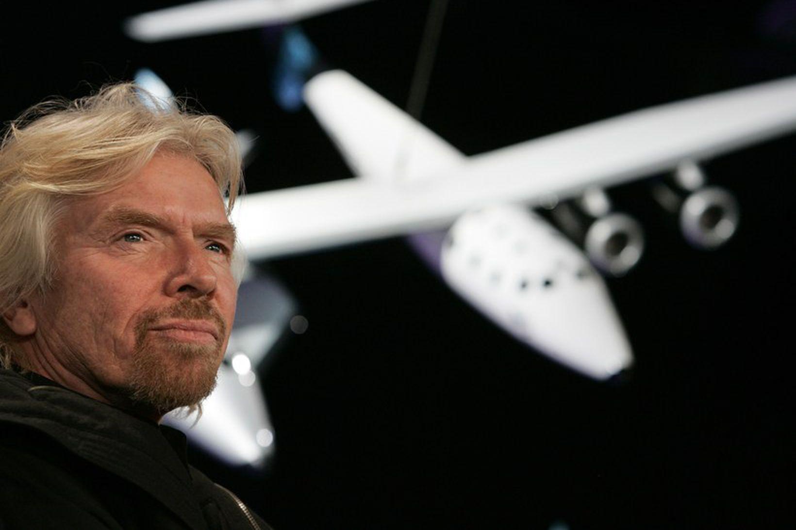 Sir Richard Branson, stofnandi Virgin Galactic.