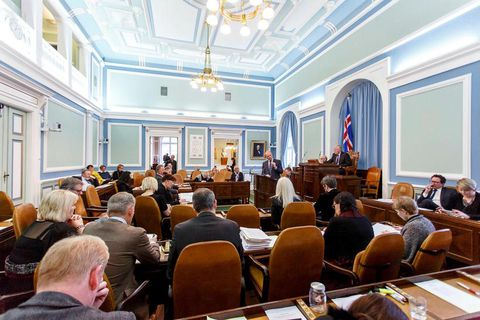 63 MPs sit in Iceland's parliament, Alþingi.