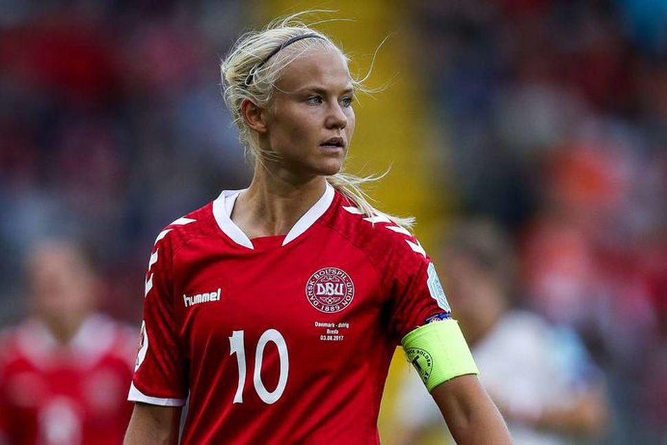 Pernille Harder skoraði þrennu.