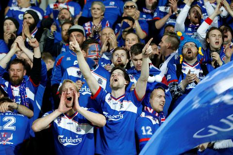 Icelandic football fans.