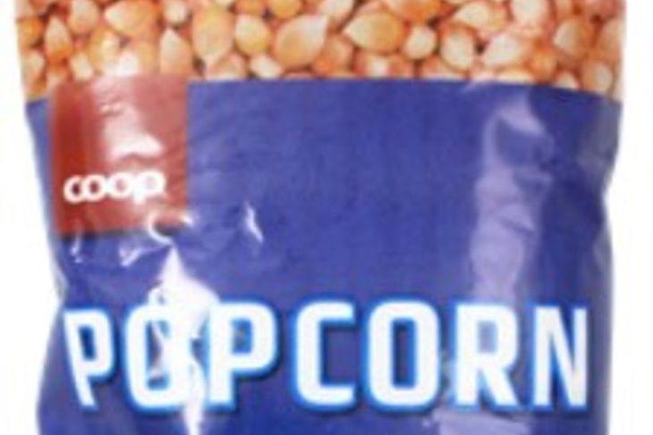 Skordýr fannst í maíspoppi frá Coop.