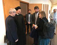 Danish rabbi Jair Melchior (second from the right).