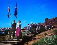 Gengið til alþingis - Kristnihátíð 2000