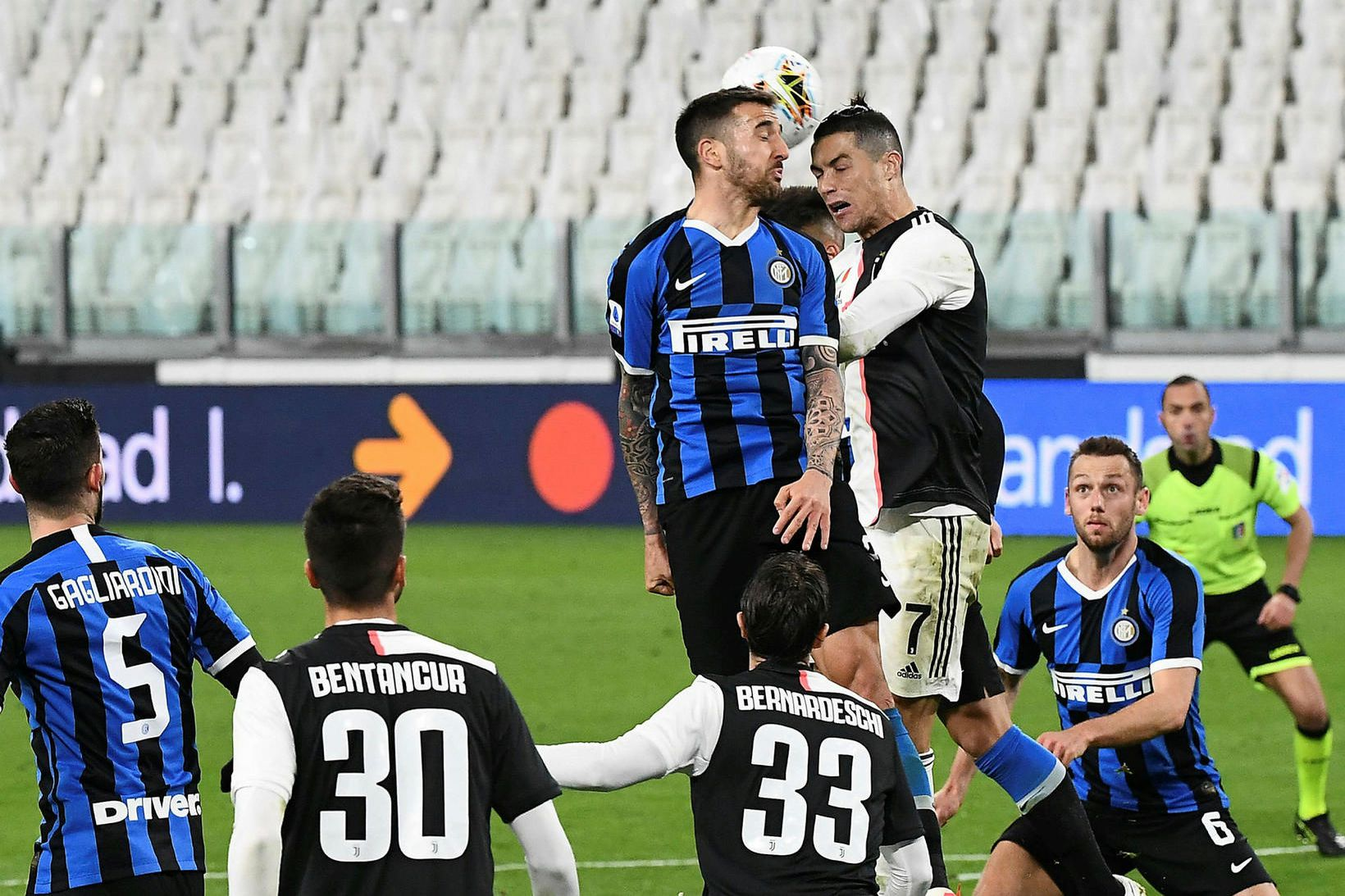 Juventus og Inter léku án áhorfenda 8. mars en A-deildin …