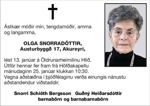 Olga Snorradóttir,