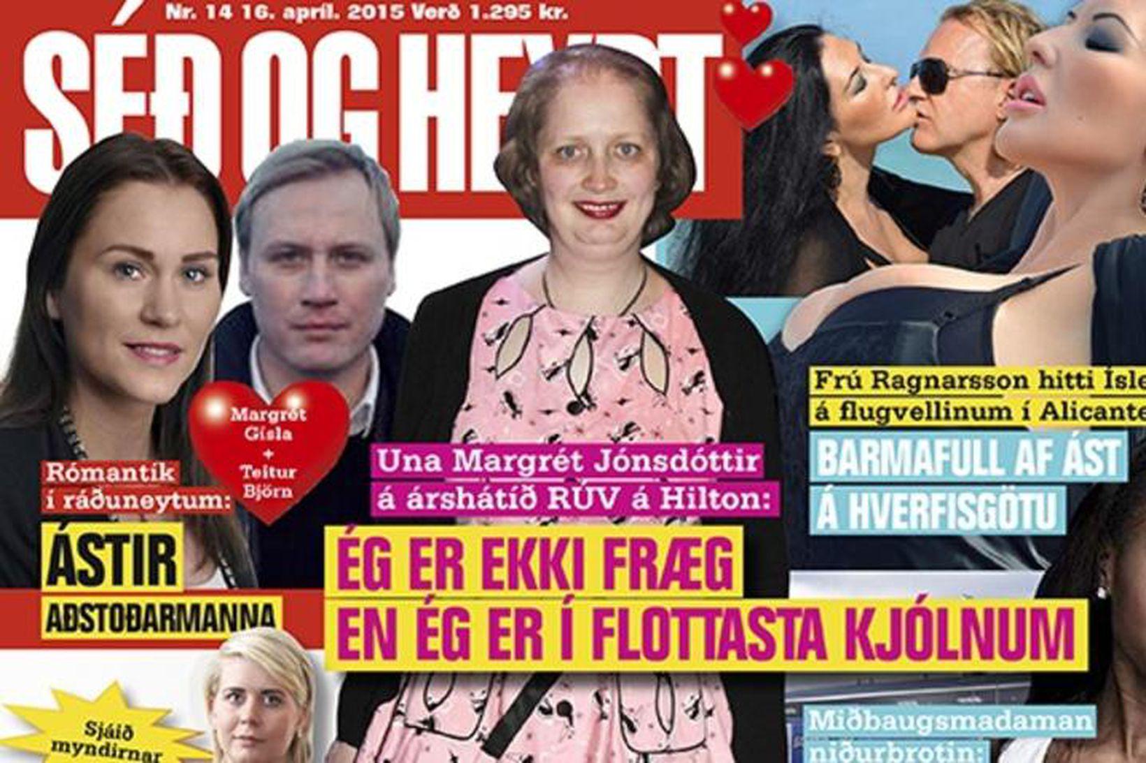 Margrét Gísladóttir og Teitur Björn Einarsson á forsíðu Séð og …
