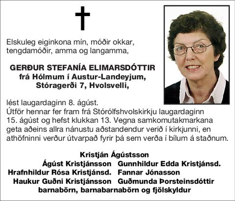 Gerður Stefanía Elimarsdóttir