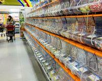 Sweet racks at an Icelandic supermarket, extremely popular with Icelandic children.