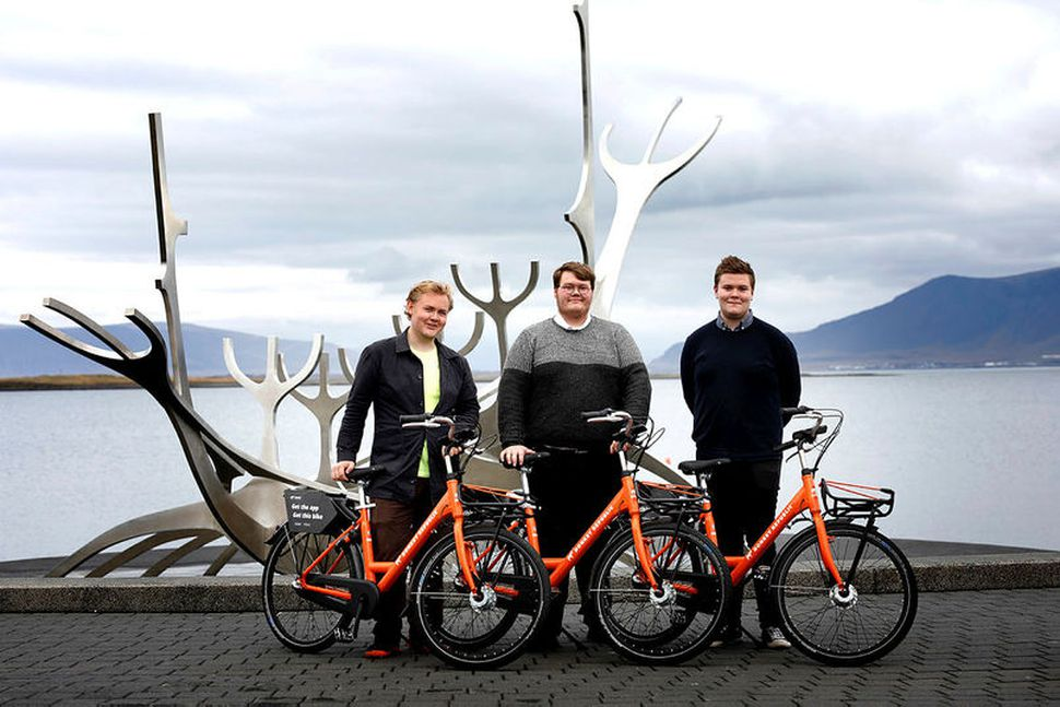 Eyþór, Kormákur og Pétur eru allir á því að reiðhjól ...