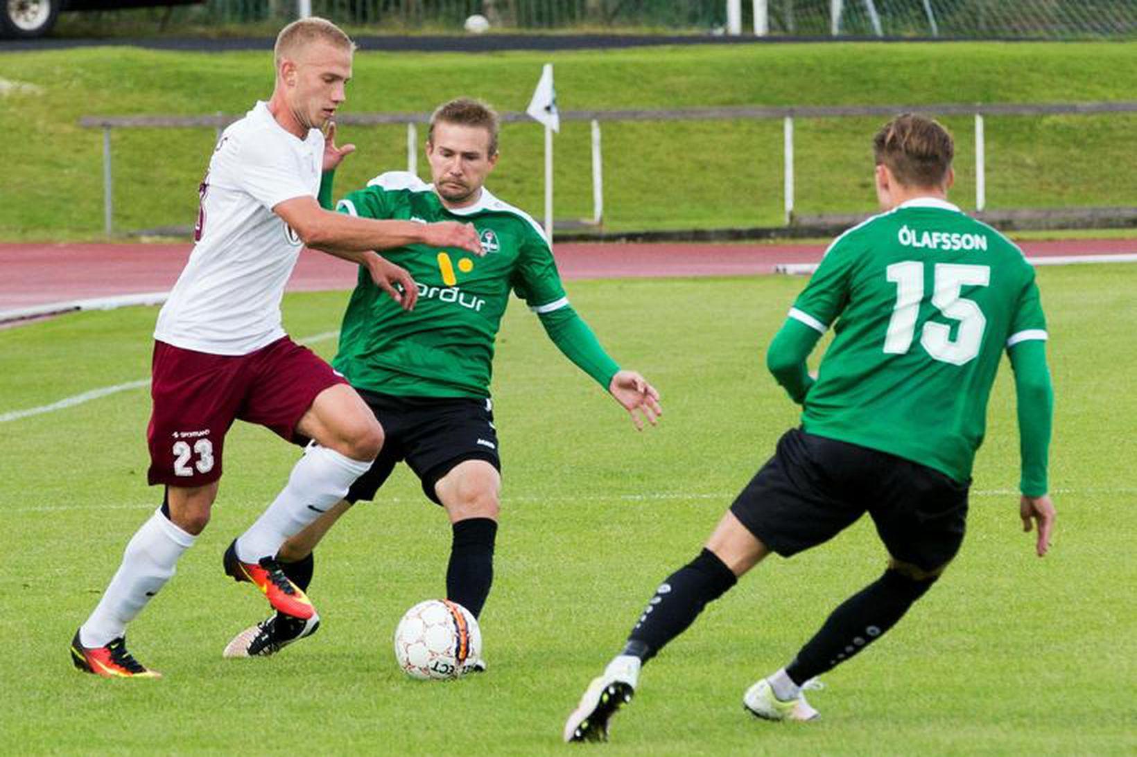 Jelgava vann 3:2-sigur á Kópavogsvelli í fyrri leiknum.