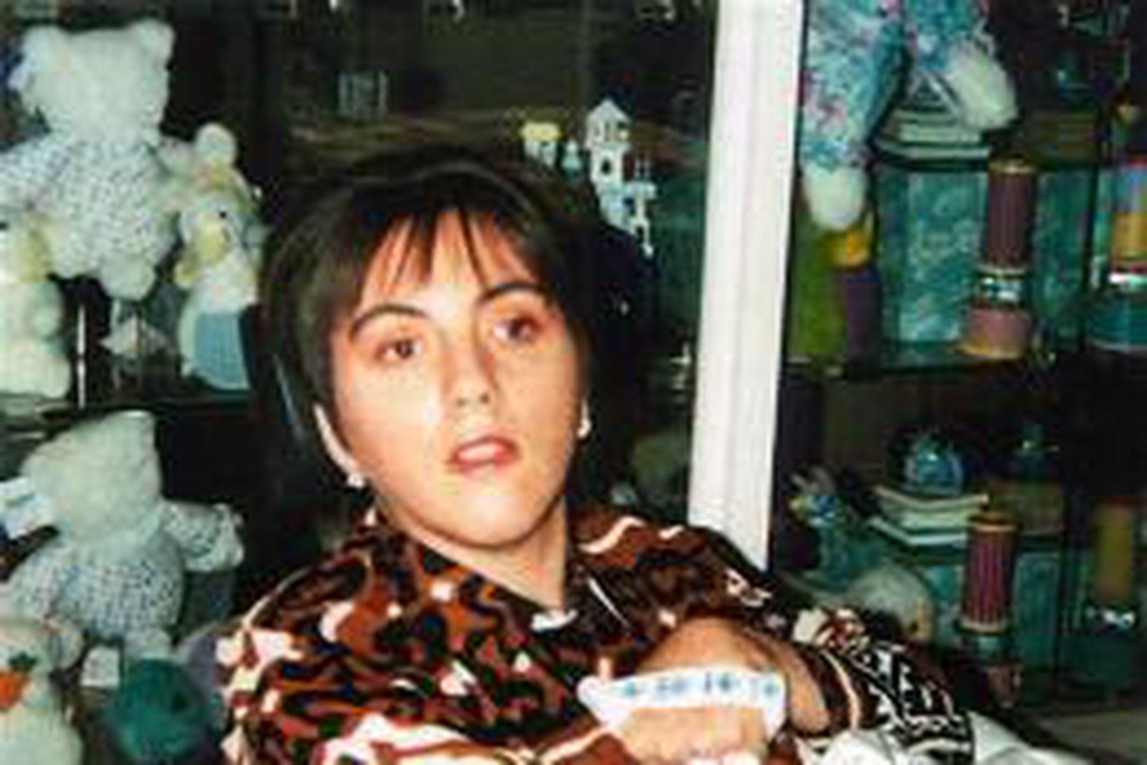 Terri Schiavo skömmu eftir að hún fékk hjartaáfallið árið 1990.