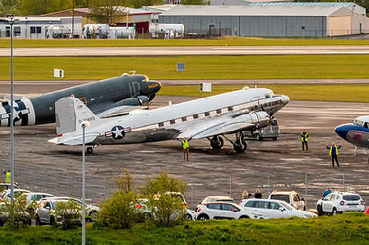 Three of the DC-3/C-47 aircraft at Reykjavík Airport.