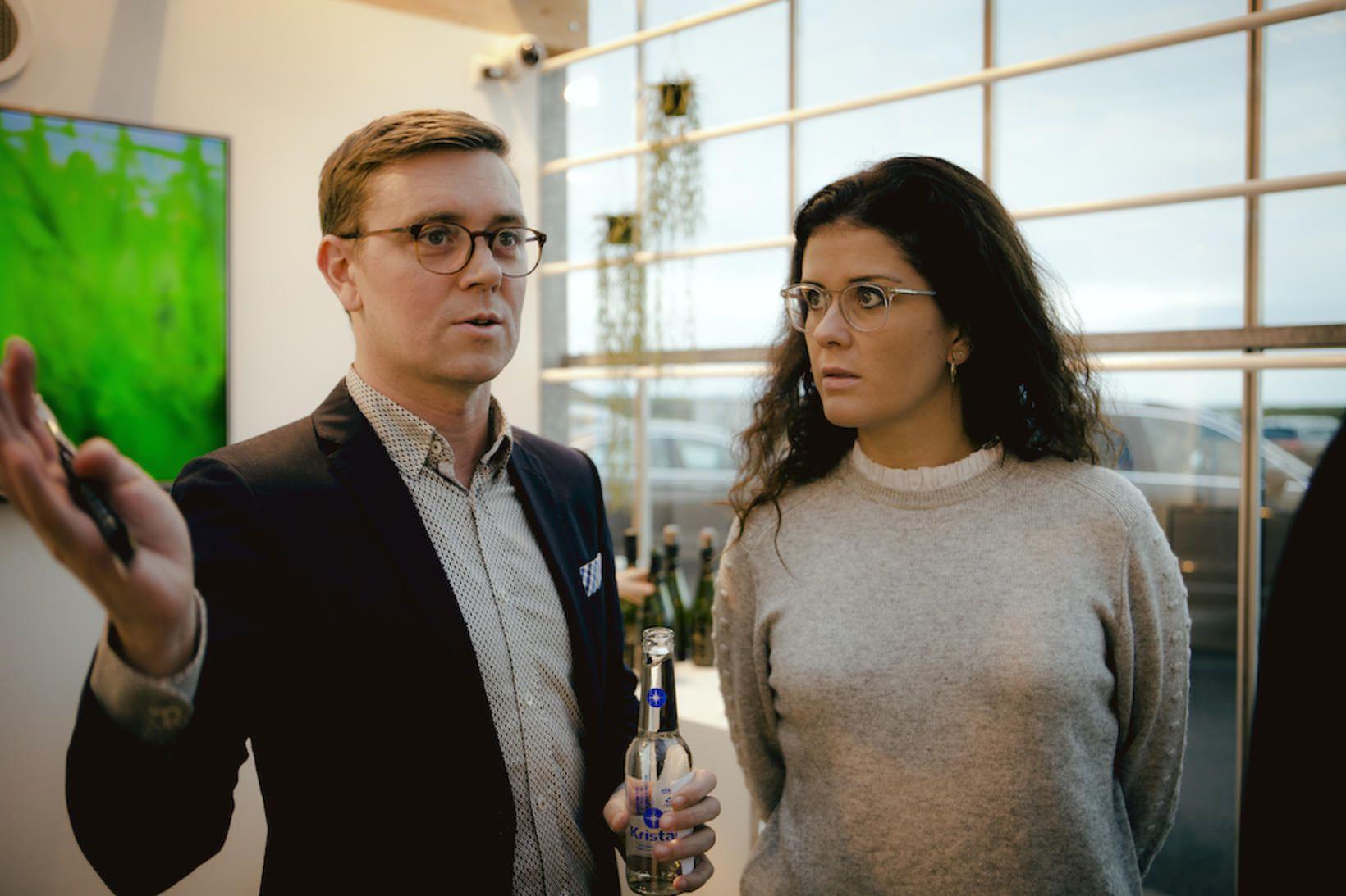 Frosti Ólafsson, forstjóri ORF Líftækni, og Þórdís Kolbrún Reykfjörð Gylfadóttir, …