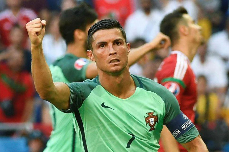 Cristiano Ronaldo fagnar marki gegn Ungverjalandi á dögunum.