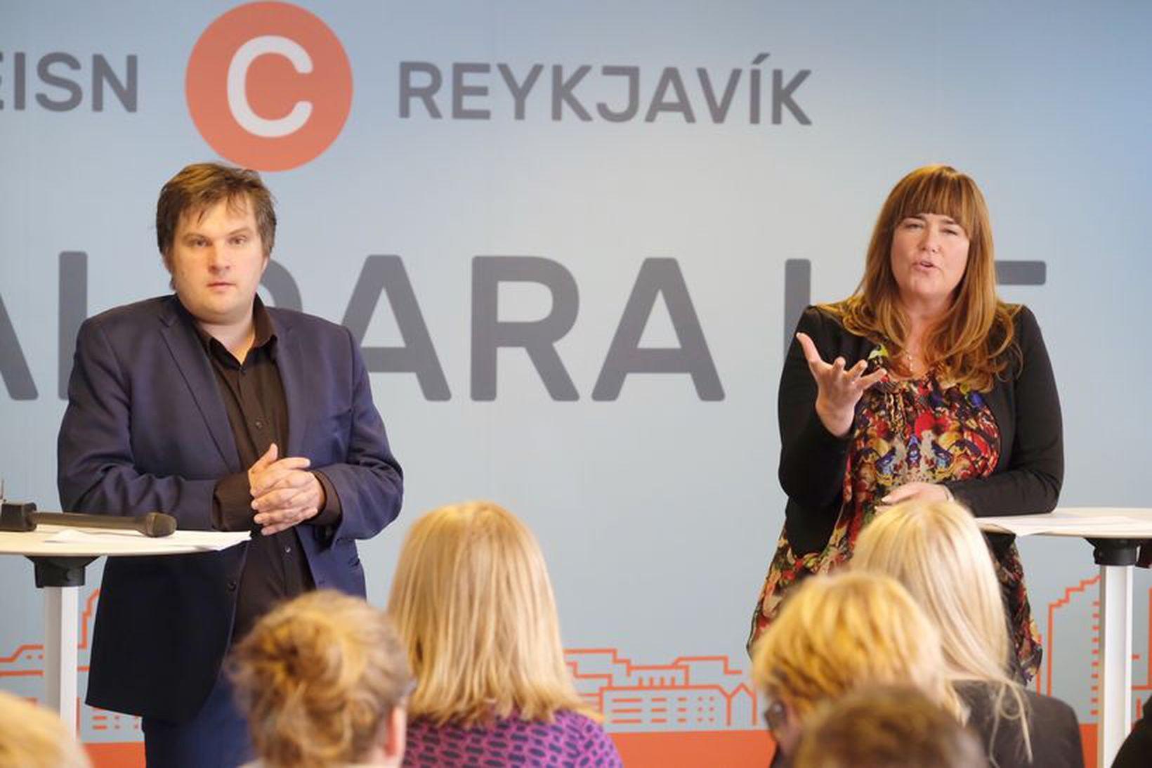 Pawel Bartoszek og Þórdís Lóa Þórhallsdóttir.
