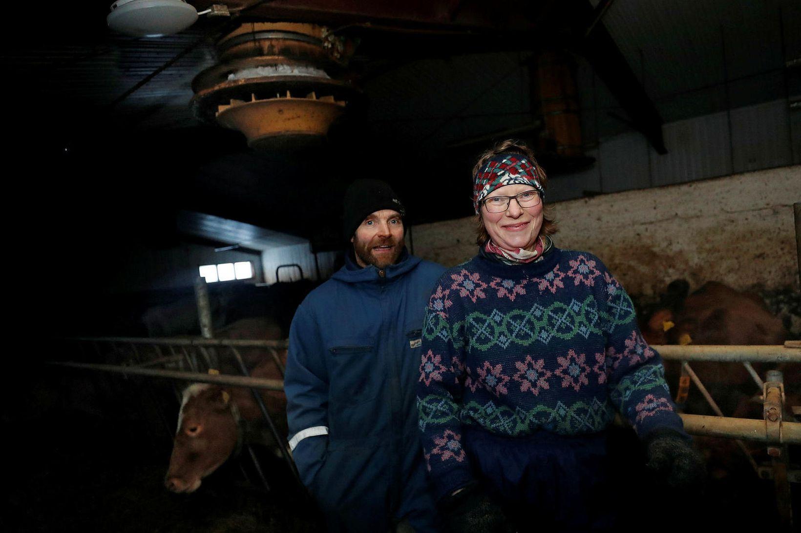 Jóhann og Guðný Helga, bændur á Bessastöðum á Heggstaðanesi.