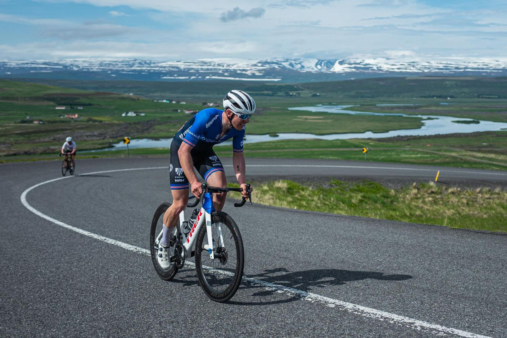 Ingvar Ómarsson er hér á leiðinni á milli Akureyrar og …