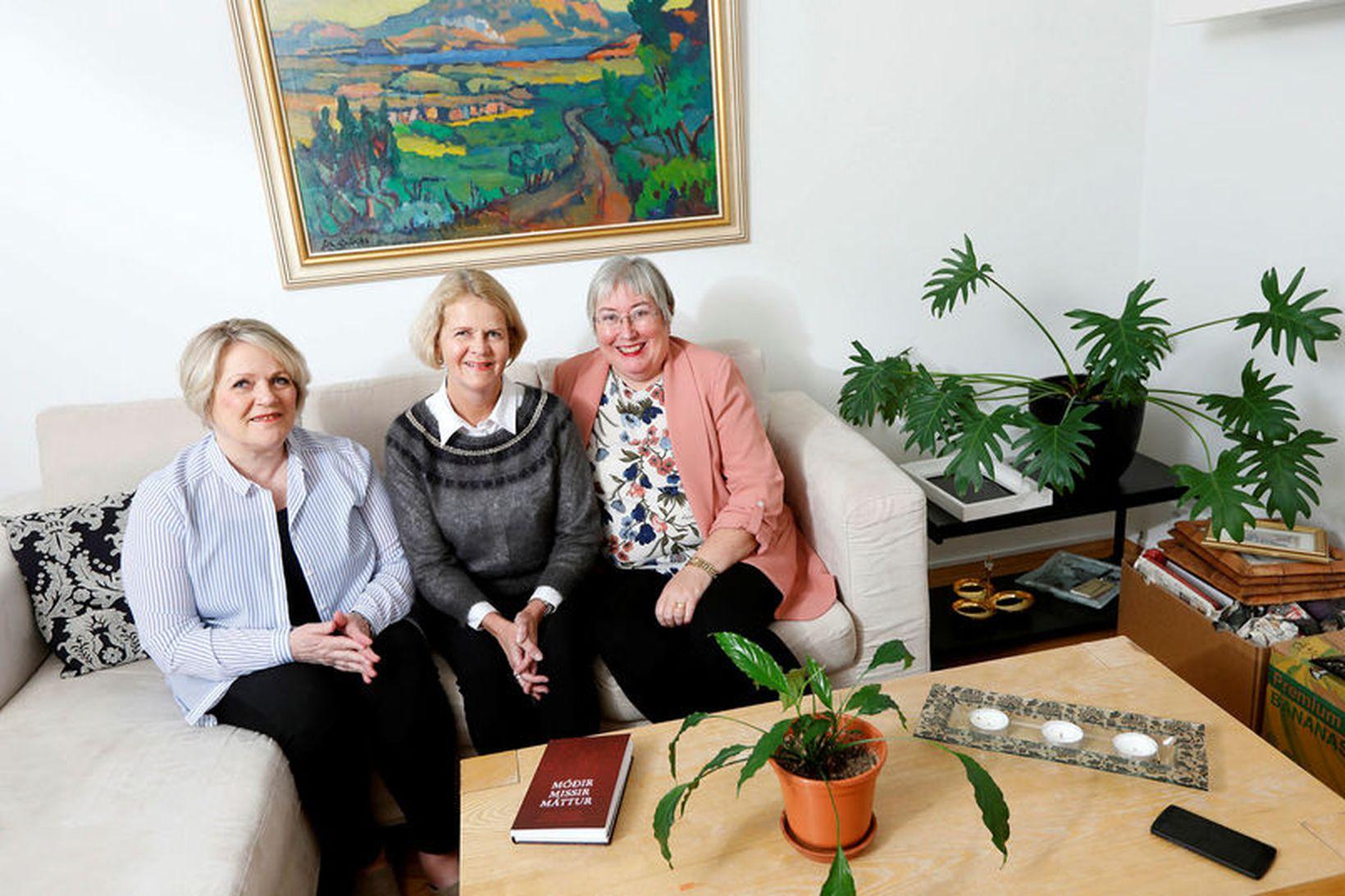 Oddný Þ. Garðarsdóttir, Vera Björk Einarsdóttir og Þóranna M. Sigurbergsdóttir, …