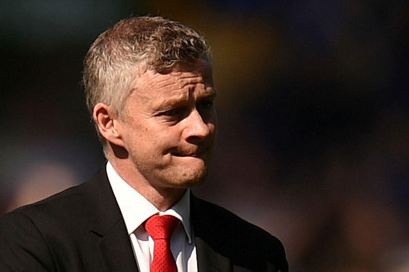 Ole Gunnar var svekktur eftir leik sinna manna gegn Everton …