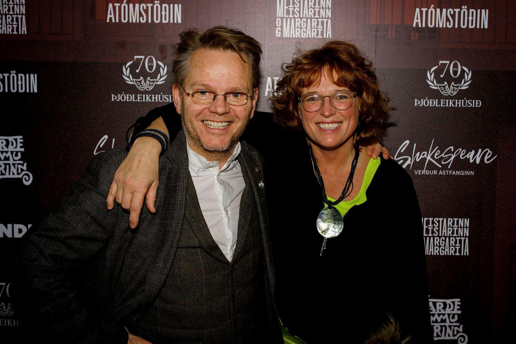 Hjónin Gunnar Helgason og Björk Jakobsdóttir