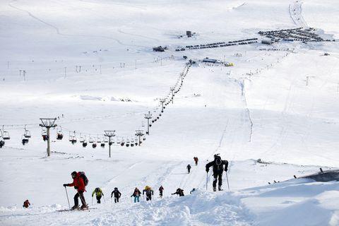 Skiing at Bláfjöll.