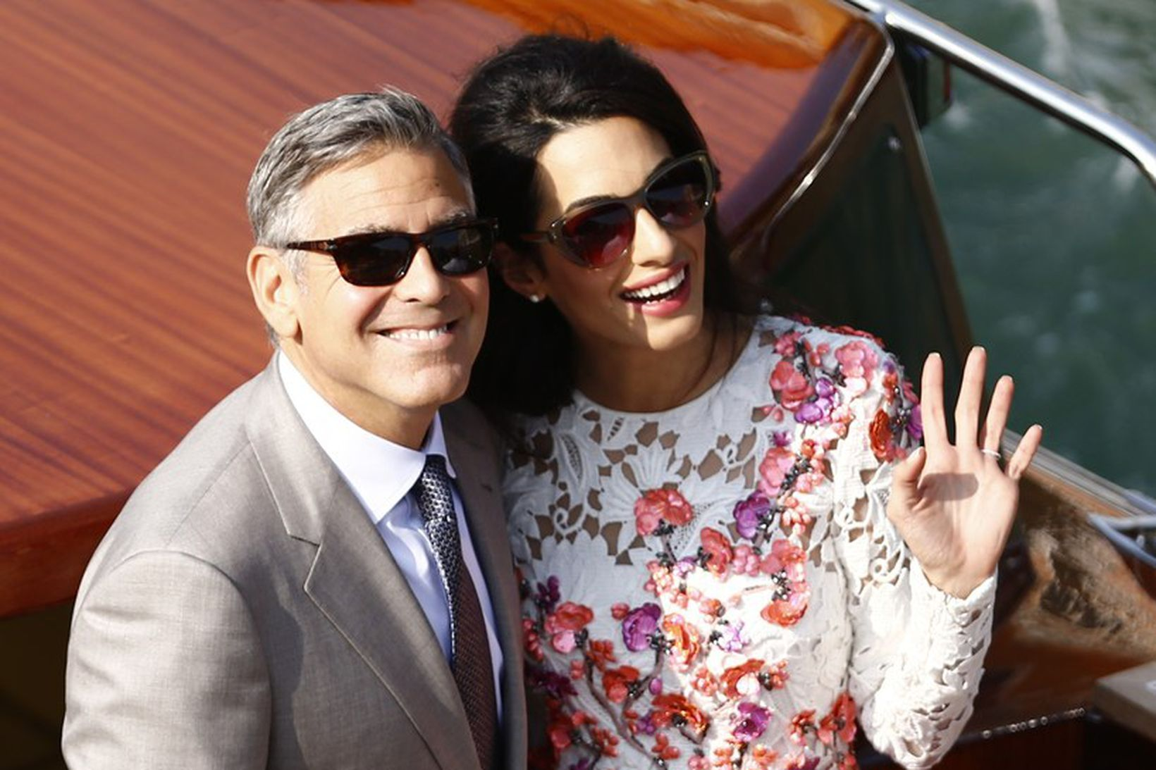 George og Amal Clooney í Feneyjum fyrir fimm árum.