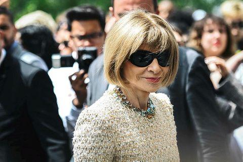 Anna WIntour hefur verið ritstjóri tísku tímaritsins Vogue í 30 ár.