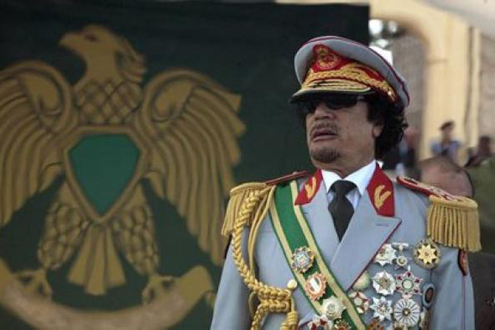 Muammar Gaddafi var við völd í Líbíu í meira en …